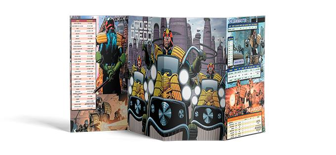 GM Screen Sneak Peak for Judge Dredd and Worlds of 2000AD RPG
