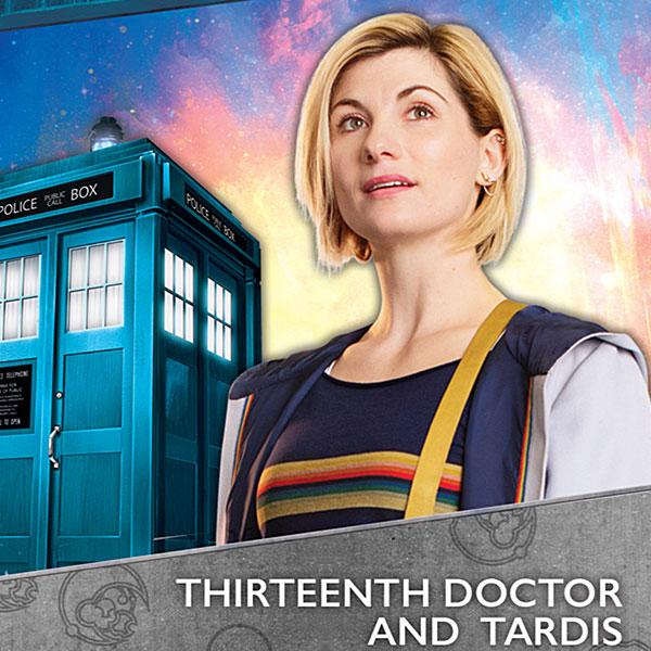 Just a wandering lady traveler and her little blue box! 13th Doctor & TARDIS out now