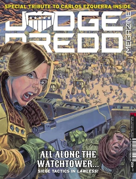 Judge Dredd Megazine #402 A tribute to Carlos Ezquerra