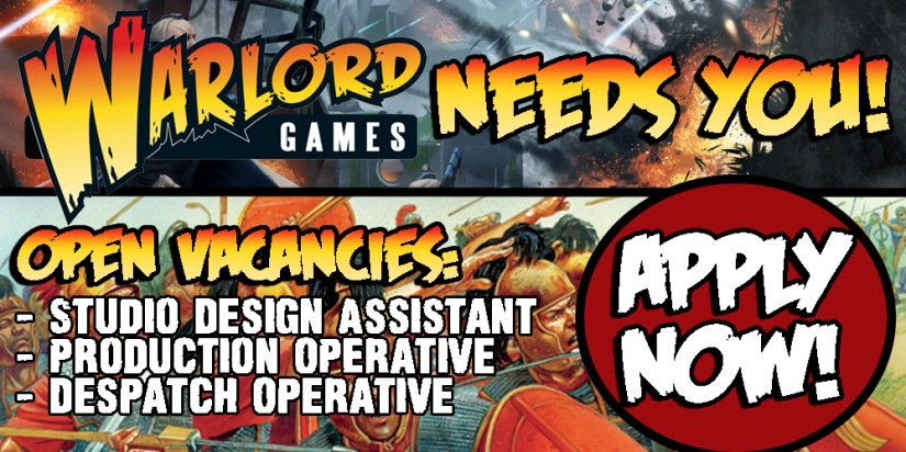 New Jobs with Warlord Games