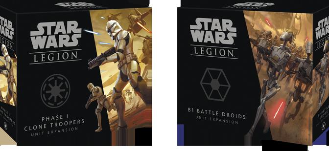 Star Wars: Clone Wars Legion first expansions. Fantasy Flight Games